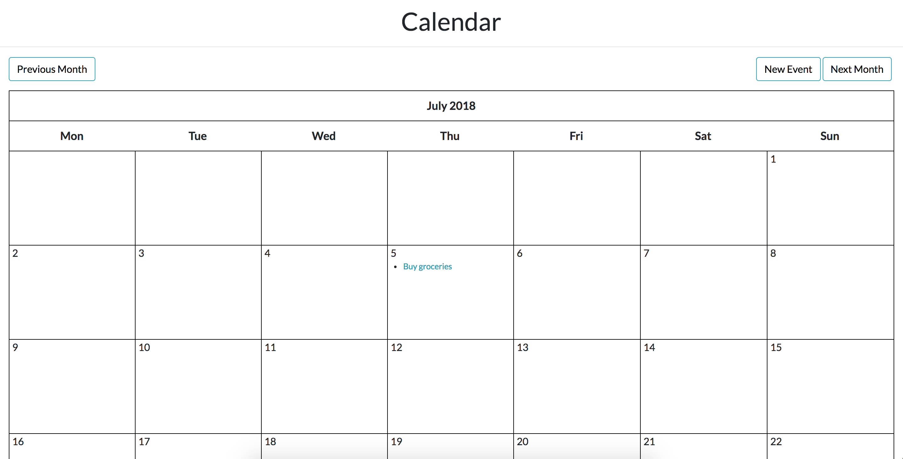 Image of calendar part two